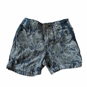 Denim paisley print shorts 12 months